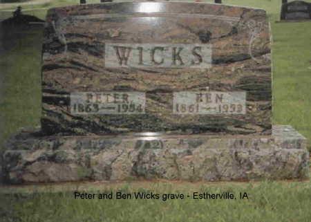 WICKS, PETER - Emmet County, Iowa | PETER WICKS