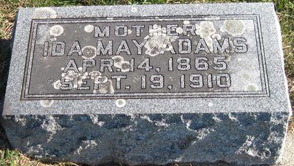 ADAMS, IDA MAY - Fayette County, Iowa | IDA MAY ADAMS