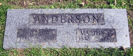 ANDERSON, MARTHA - Fayette County, Iowa   MARTHA ANDERSON