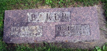 BAKER, BIRDELLA A. - Fayette County, Iowa   BIRDELLA A. BAKER