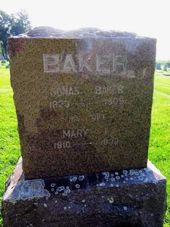 BAKER, JONAS - Fayette County, Iowa   JONAS BAKER