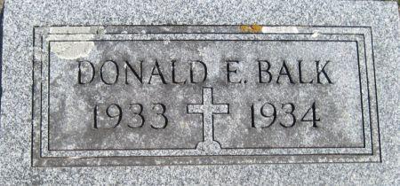 BALK, DONALD E - Fayette County, Iowa | DONALD E BALK
