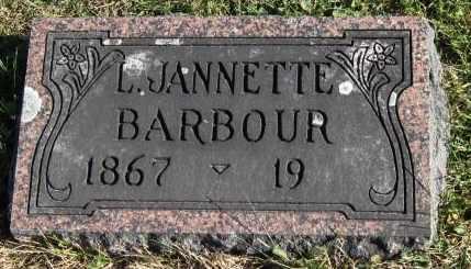 LITTS BARBOUR, LOUISA JANNETTE - Fayette County, Iowa   LOUISA JANNETTE LITTS BARBOUR