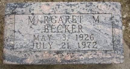 REICHEL BECKER, MARGARET M. - Fayette County, Iowa | MARGARET M. REICHEL BECKER