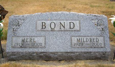 BOND, MILDRED - Fayette County, Iowa | MILDRED BOND