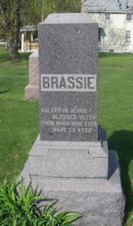 BRASSIE, AUGUSTUS FAMILY STONE - Fayette County, Iowa | AUGUSTUS FAMILY STONE BRASSIE