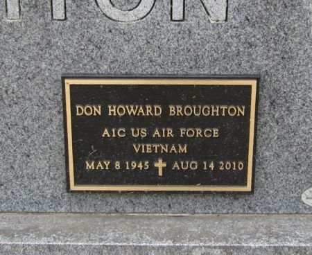 BROUGHTON, DON HOWARD - Fayette County, Iowa   DON HOWARD BROUGHTON