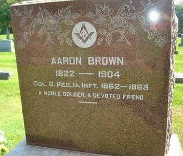 BROWN, AARON - Fayette County, Iowa   AARON BROWN