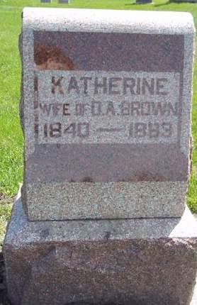 BROWN, KATHERINE - Fayette County, Iowa | KATHERINE BROWN