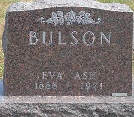 ASH BULSON, EVA ARLIE - Fayette County, Iowa   EVA ARLIE ASH BULSON