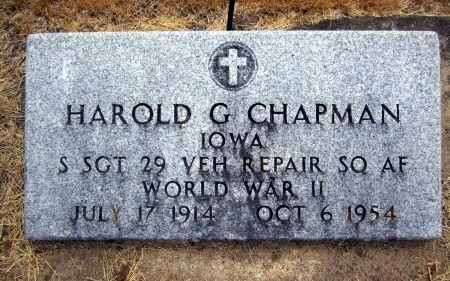 CHAPMAN, HAROLD G. - Fayette County, Iowa   HAROLD G. CHAPMAN