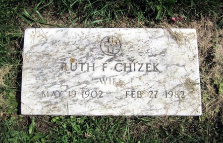 CHIZEK, RUTH F. - Fayette County, Iowa   RUTH F. CHIZEK