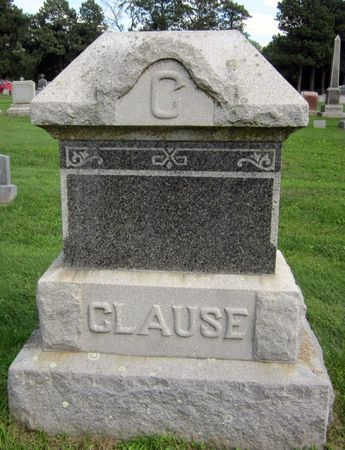 CLAUSE, FAMILY MONUMENT - Fayette County, Iowa | FAMILY MONUMENT CLAUSE