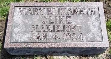 CLINE, MARY ELIZABETH - Fayette County, Iowa | MARY ELIZABETH CLINE
