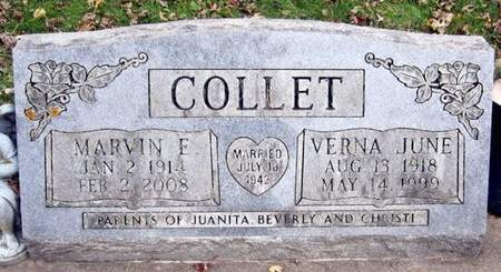 DEMAREST COLLET, VERNA JUNE - Fayette County, Iowa | VERNA JUNE DEMAREST COLLET
