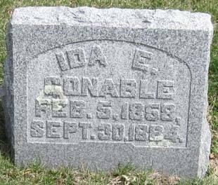 CONABLE, IDA E. - Fayette County, Iowa | IDA E. CONABLE