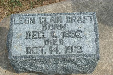 CRAFT, LEON CLAIR - Fayette County, Iowa   LEON CLAIR CRAFT