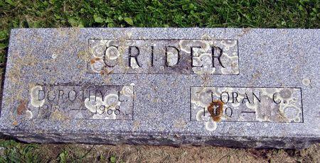CRIDER, LORAN C. - Fayette County, Iowa | LORAN C. CRIDER