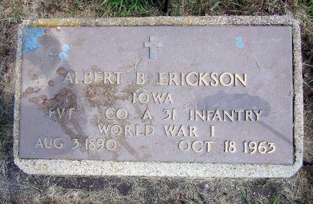 ERICKSON, ALBERT B. - Fayette County, Iowa | ALBERT B. ERICKSON
