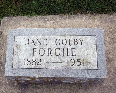 COLBY FORCHE, JANE  ALICE - Fayette County, Iowa | JANE  ALICE COLBY FORCHE