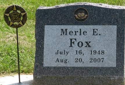 FOX, MERLE E. - Fayette County, Iowa | MERLE E. FOX