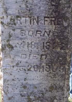 FREY, MARTIN - Fayette County, Iowa   MARTIN FREY