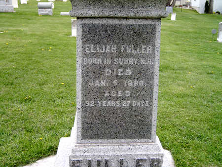 FULLER, ELIJAH - Fayette County, Iowa | ELIJAH FULLER