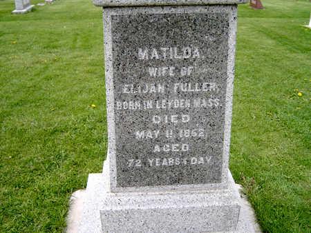 NEWCOMB  FULLER, MATILDA - Fayette County, Iowa | MATILDA NEWCOMB  FULLER
