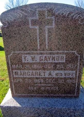 GAYNOR, MARGARET A. - Fayette County, Iowa | MARGARET A. GAYNOR