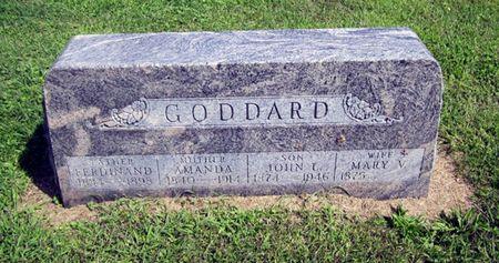 JONES GODDARD, MARY VIRGINIA - Fayette County, Iowa   MARY VIRGINIA JONES GODDARD