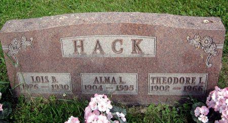 HACK, LOIS B. - Fayette County, Iowa   LOIS B. HACK