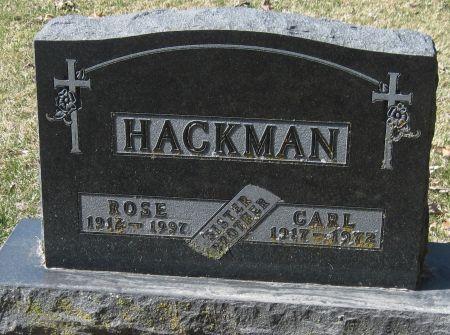 HACKMAN, ROSE - Fayette County, Iowa   ROSE HACKMAN