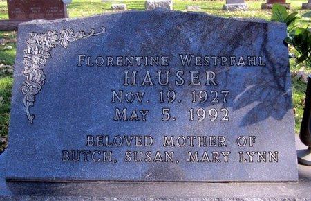 WESTPFAHL HAUSER, FLORENTINE - Fayette County, Iowa   FLORENTINE WESTPFAHL HAUSER