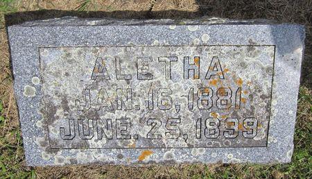 HILLSINGER, ALETHA - Fayette County, Iowa   ALETHA HILLSINGER