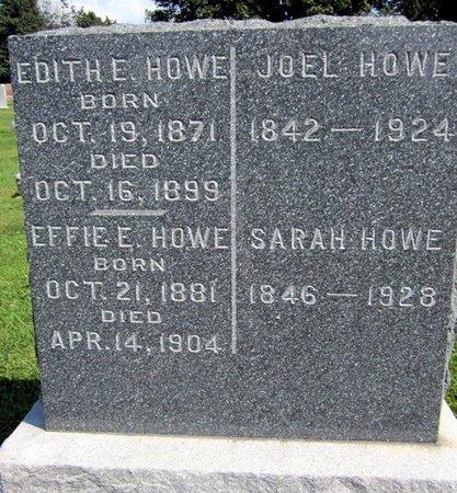 HOWE, EFFIE E. - Fayette County, Iowa | EFFIE E. HOWE