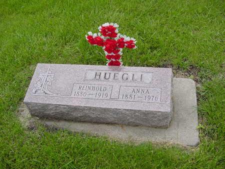 HUEGLI, REINHOLD AND ANNA - Fayette County, Iowa   REINHOLD AND ANNA HUEGLI