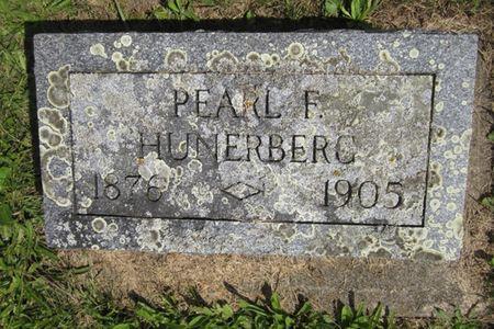 HUNERBERG, PEARL F/ - Fayette County, Iowa | PEARL F/ HUNERBERG