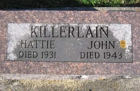 KILLERLAIN, HATTIE - Fayette County, Iowa   HATTIE KILLERLAIN