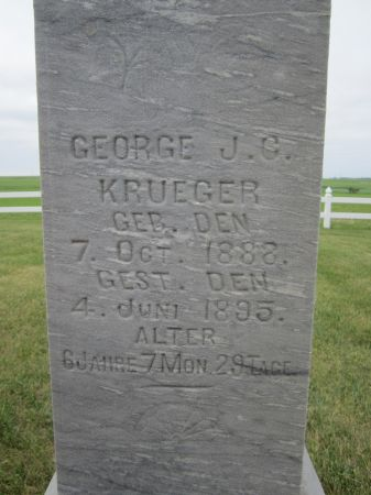 KRUEGER, GEORGE J.C. - Fayette County, Iowa | GEORGE J.C. KRUEGER