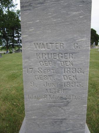 KRUEGER, WALTER G. - Fayette County, Iowa | WALTER G. KRUEGER