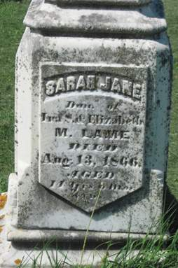 LAME, SARAH JANE - Fayette County, Iowa | SARAH JANE LAME