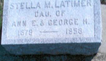 LATIMER, STELLA M. - Fayette County, Iowa | STELLA M. LATIMER