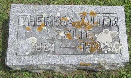 LESLIE, THERESA MILLER - Fayette County, Iowa   THERESA MILLER LESLIE