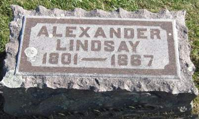 LINDSAY, ALEXANDER - Fayette County, Iowa   ALEXANDER LINDSAY