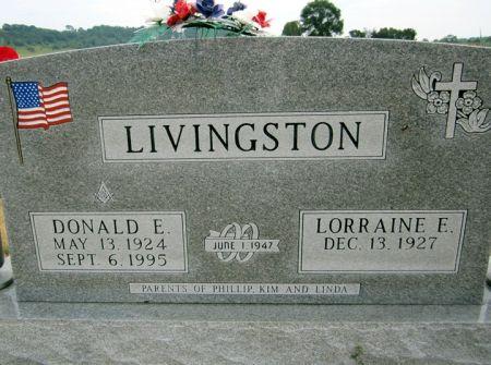 LIVINGSTON, DONALD E. - Fayette County, Iowa   DONALD E. LIVINGSTON