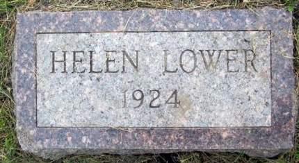 LOWER, HELEN - Fayette County, Iowa   HELEN LOWER