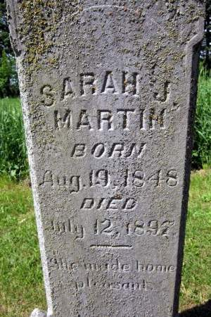 MARTIN, SARAH J. - Fayette County, Iowa | SARAH J. MARTIN