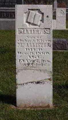 MCALLISTER, DANIEL S. - Fayette County, Iowa   DANIEL S. MCALLISTER