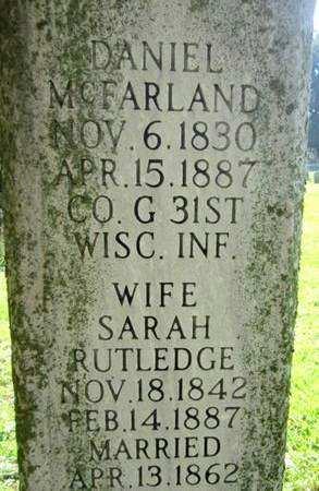 RUTLEDGE MCFARLAND, SARAH - Fayette County, Iowa | SARAH RUTLEDGE MCFARLAND