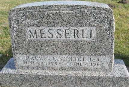 MESSERLI, MARVEL ELIZABETH - Fayette County, Iowa   MARVEL ELIZABETH MESSERLI